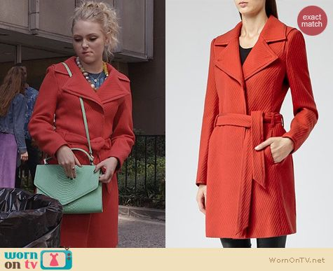 The Carrie Diaries Fashion: Reiss Lavina Coat worn by AnnaSophia Robb