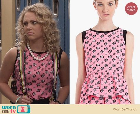 The Carrie Diaries Fashion: Sandro Exquise Top worn by Anna Sophia Robb