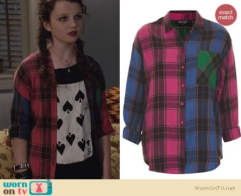 The Carrie Diaries Fashion: Topshop Mix & Match Check Shirt worn by Stefania Owen