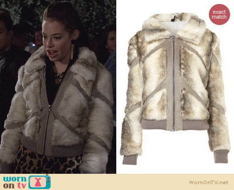 The Carrie Diaries Fashion: Topshop Sasha Fur Jacket worn by Donna LaDonna