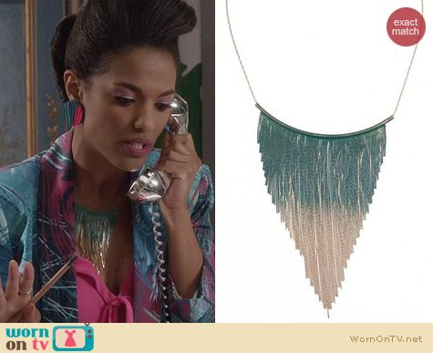 The Carrie Diaries Jewellery: Gemma Simone Shakira Necklace worn by Freema Agyeman
