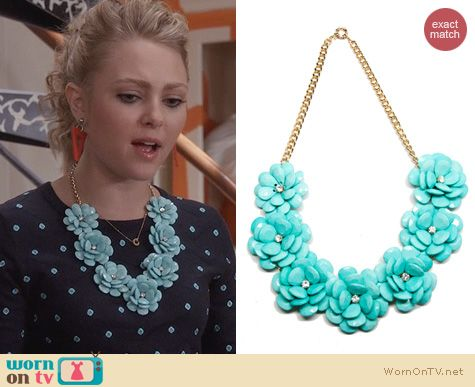 Carrie Diaries Jewellery: T+J Designs Luxe Flower Petal Necklace worn by AnnaSophia Robb