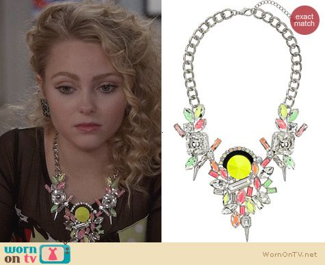 Topshpo Premium Silver Look Neon Necklace worn by AnnaSophia Robb on The Carrie Diaries