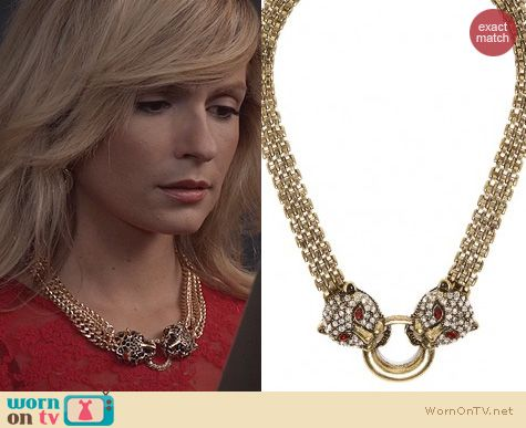 The Carrie Diaries Jewelry: Bauble Bar Jaguar Knocker Collar worn by Lindsey Gort
