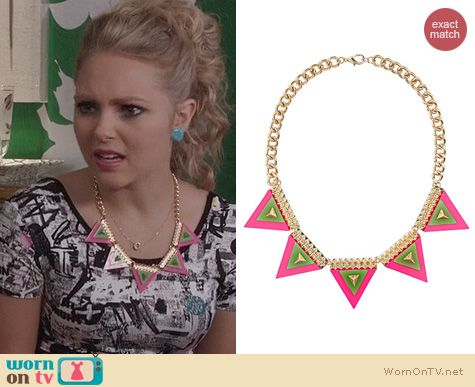 The Carrie Diaries Jewelry: Topshop Safari Bunting Necklace worn by AnnaSophia Robb