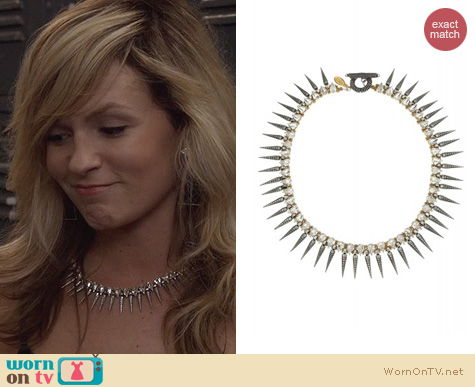 The Carrie Diaries Jewelry Tova Spike Necklace worn by Samantha Jones