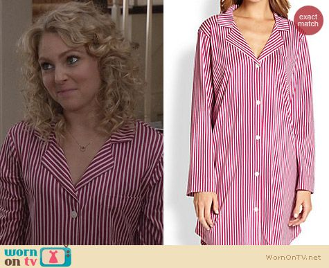 The Carrie Diaries Pajamas: Cottonista Stripe Sleepshirt worn by Carrie Bradshaw