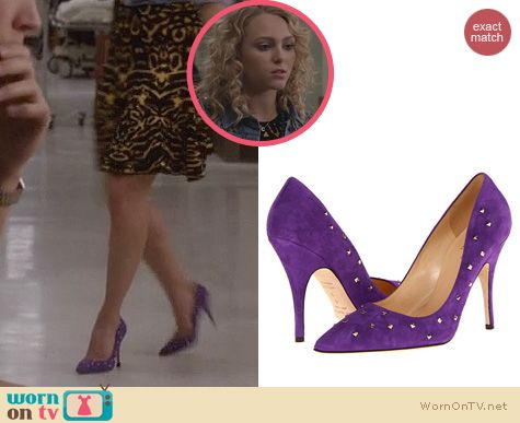 Carrie Diaries Shoes: Kate Spade Lavania Suede Pumps worn by AnnaSophia Robb