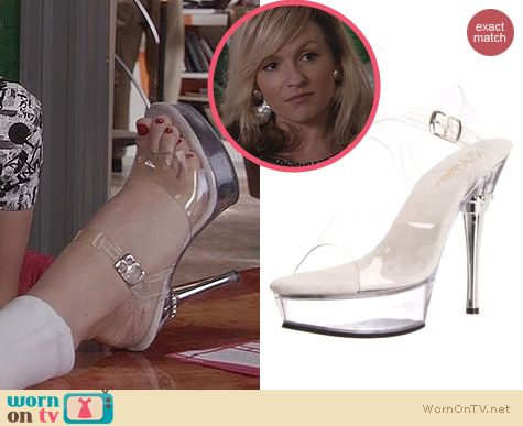 The Carrie Diaries Shoes: Pleaser Allure Platform Sandals worn by Samantha Jones