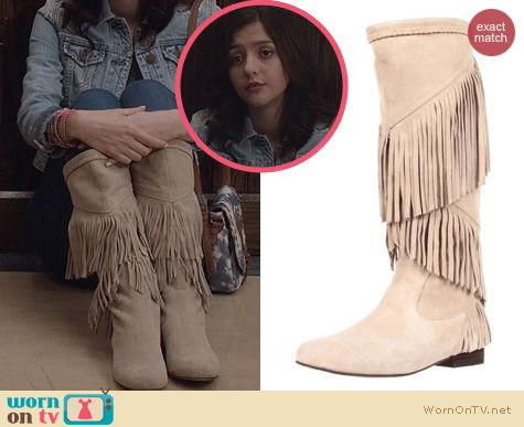 Carrie Diaries Shoes: SBicca Shyann Boots in Bone worn by Maggie Landers