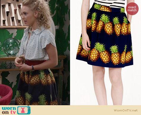 The Carrie Diaries Fashion: J. Crew Ratti Pineapple Skirt worn by AnnaSophia Robb