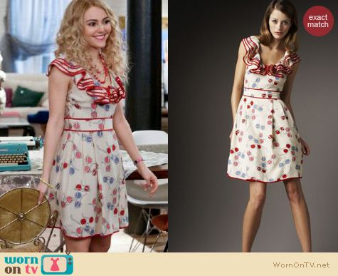 The Carrie Diaries Style: Kate Spade Pass the Shades Avery dress worn by AnnaSophia Robb