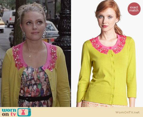 Carrie Bradshaw Fashion: Kate Spade Azalea Cardigan worn by AnnaSophia Robb