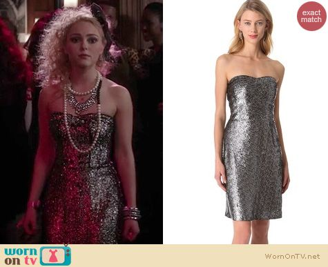 The Carrie Diaries Style: Rebecca Taylor Strapless sequin dress worn by AnnaSophia Robb