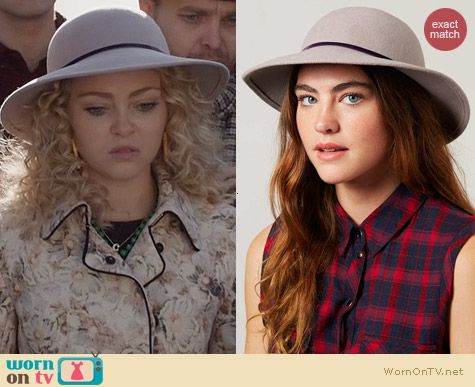 The Carrie Diaries Style: Topshop Beekeeper Felt Hat worn by AnnaSophia Robb