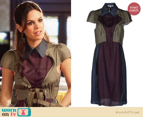 Carven Colorblock Shirtdress worn by Rachel Bilson on Hart of Dixie