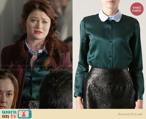 Carven Contrast Collar Blouse worn by Emilie DeRavin on OUAT
