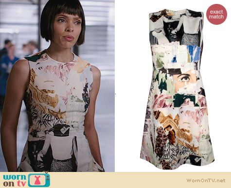 Carven Graphic Printed Wool Dress worn by Tamara Taylor on Bones