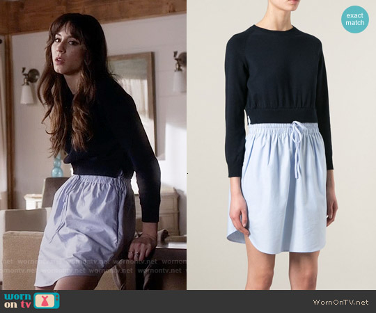 Carven Oxford Contrast Dress worn by Troian Bellisario on PLL