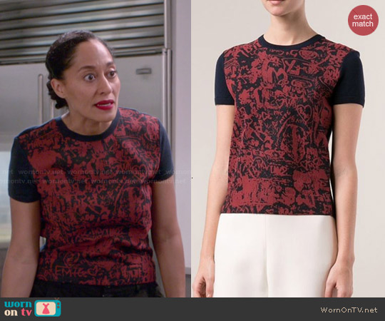 Carven Silk Front Sweater worn by Tracee Ellis Ross on Blackish