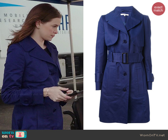 Carven Trench Coat worn by Caitlin Snow on The Flash