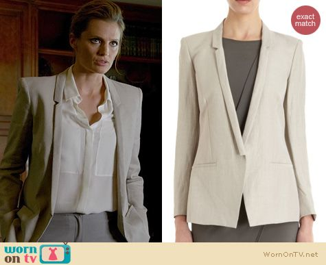 Castle Fashion: Helmut Lang Slim Lapel Blazer worn by Stana Katic