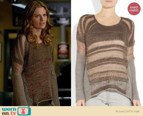Castle Fashion: Helmut Lang Sweater worn by Stana Katic