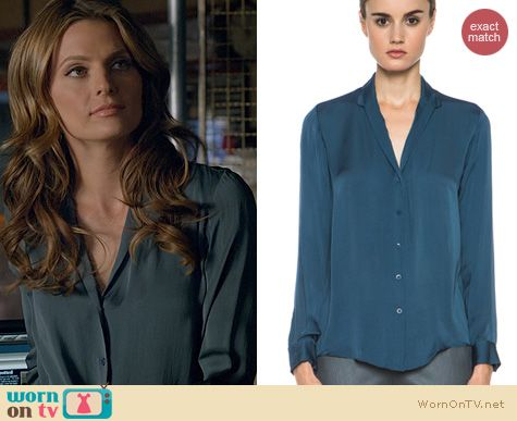Fashion of Castle: Theyskens Theory Brana Blouse worn by Stana Katic