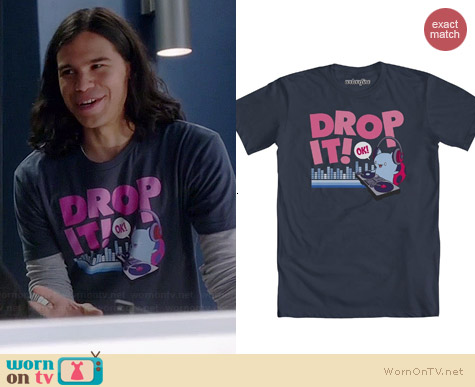 Bravest Warriors Catbug Drop It DJ T-shirt worn by Carlos Valdes on The Flash