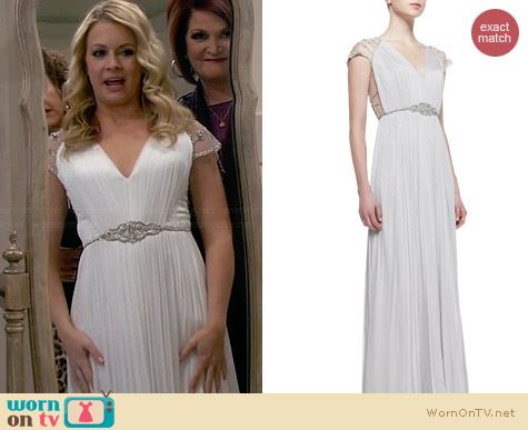 Catherine Deane Tallulah Gown worn by Melissa Joan Hart on Melissa & Joey