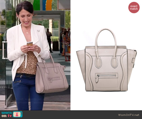 Celine Luggage Tote worn by Lisa Edelstein on GG2D