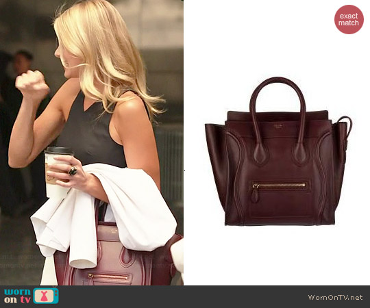 Celine Mini Luggage Tote worn by Eliza Coupe on Benched