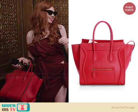 Celine Red Mini Luggage Tote worn by Karen Gillan on Selfie