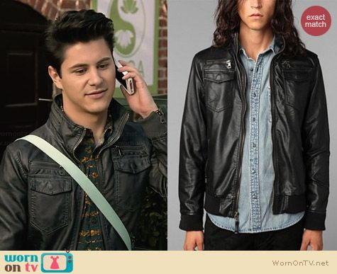 Charles & 1/2 Moto Jacket worn by Michael Willett on Faking It