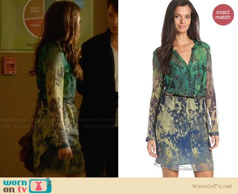 Charlie Jade Piper Silk Chiffon Dress worn by Aimee Teegarden on Star-Crossed