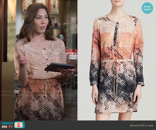 Charlie Jade Silk Drawstring Dress worn by Michaela Conlin on Bones