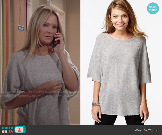 Charter Club Cashmere Raglan Sleeve Sweater worn by Sharon Case on The Young & the Restless