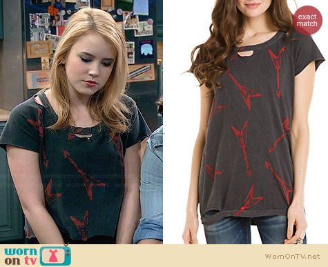 Chaser Electric Guitar Tee worn by Taylor Sprietler on Melissa & Joey