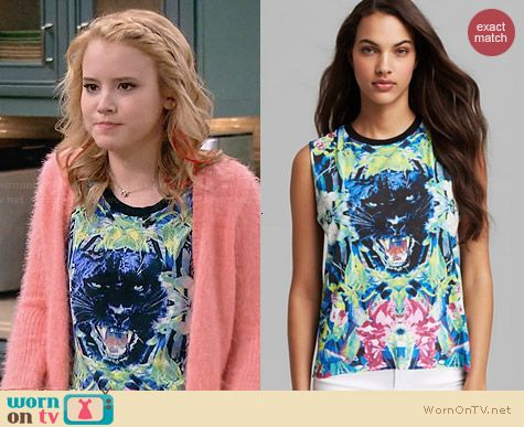 Chaser Black Panther Muscle Tank worn by Taylor Sprietler on Melissa & Joey