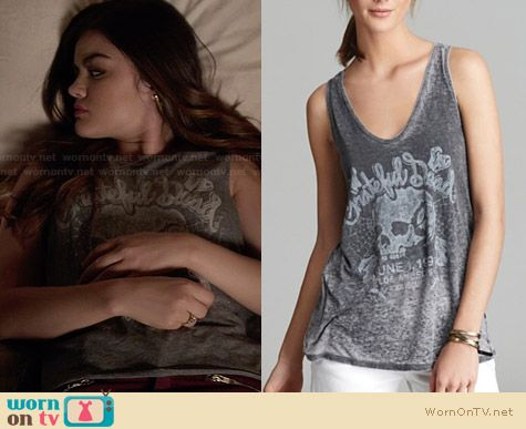 Chaser Grateful Dead Tee worn by Lucy Hale on PLL