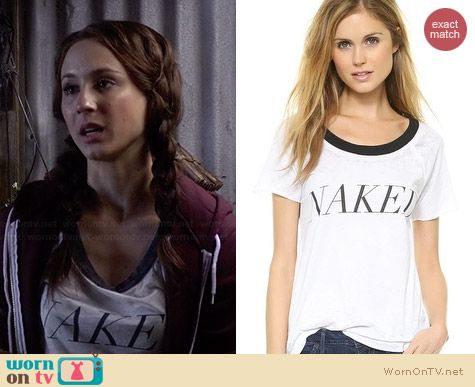 Chaser Naked Tee worn by Troian Bellisario on PLL