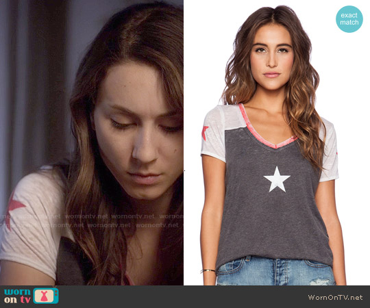 Chaser Stars Tee worn by Troian Bellisario on PLL