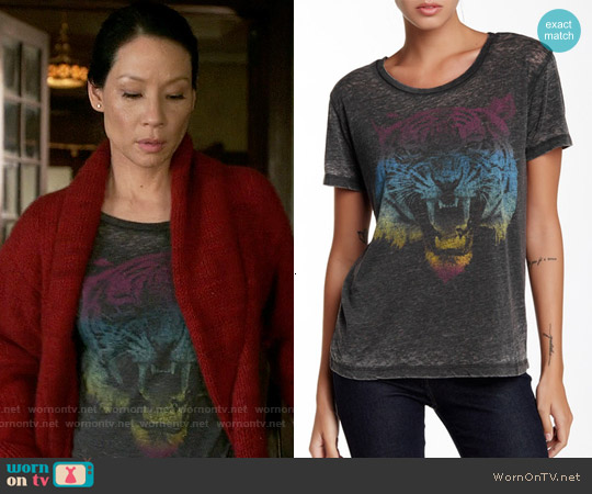 Chaser Vintage Jersey Tee worn by Lucy Liu on Elementary