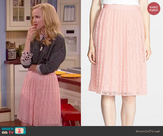 Chelsea28 Pleated Lace Skirt worn by Dove Cameron on Liv & Maddie