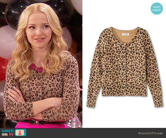 Cherokee Girls' Leopard Cardigan worn by Dove Cameron on Liv & Maddie