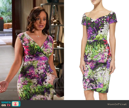 La Petite Robe di Chiara Boni Egea Floral Dress worn by Judy Reyes on Devious Maids