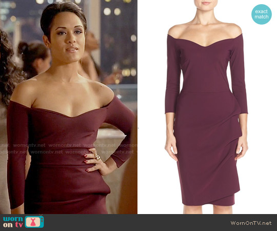 Chiara Boni La Petite Robe 'Claretta MM' Jersey Sheath Dress worn by Grace Gealey on Empire