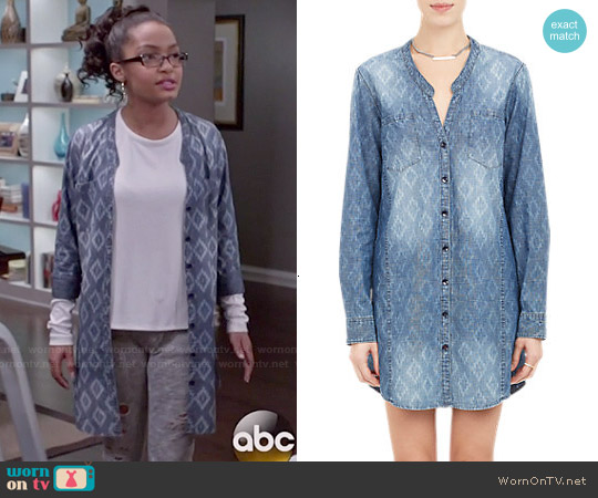 Chip Foster Ikat Print Shirtdress worn by Yara Shahidi on Blackish