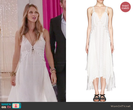 Chloé Cloqué Panel Handkerchief Dress worn by Beau Garrett on GG2D