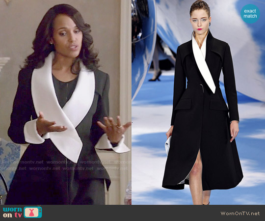 Christian Dior Fall 2013 Collection Coat worn by Kerry Washington on Scandal